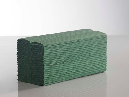 Handtowels, C-Fold, 1Ply Green,              23 x 33cm, 2880 Sheet