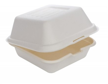 Catering, Tray, Bagasse, Burger Box, 145x145x75mm, 500