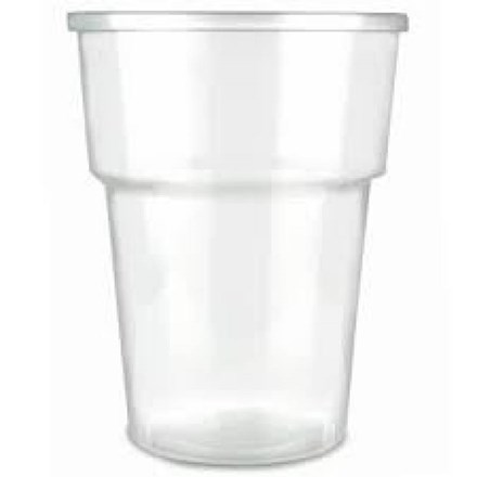 Glassware, Disposable, Flexi-Glass, Pint, 20oz, 600