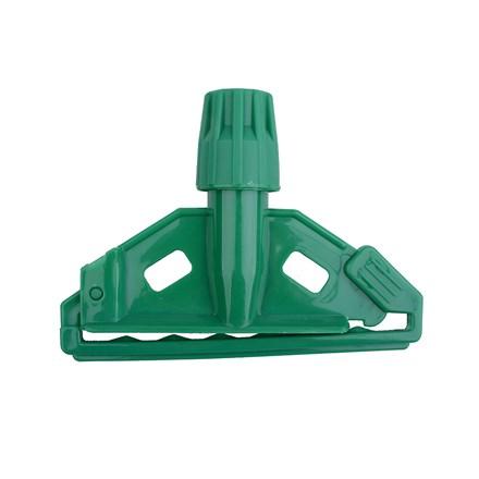Handle, Kentucky Mop Holder, Alu/Plastic Clip, Green