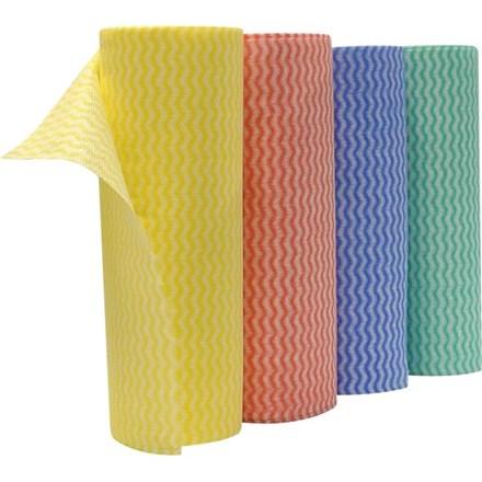 Cloths, Envirolite+, Red Lavette Roll, 50 Sheets