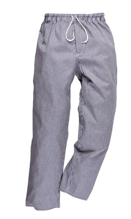 Catering Wear, Baggy Trousers, Sml Chk Blue,
