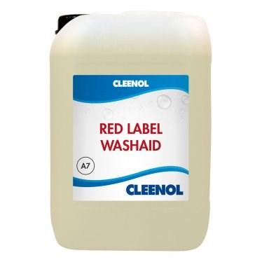 Dishwash Liquid, Cleenol, Red Label, Washaid, 10 Litre
