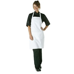 Catering Wear, Bib Apron, White