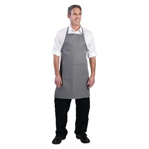Catering Wear, Bib Apron, Grey