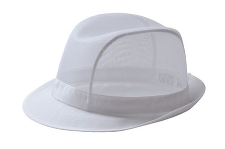 Catering, Wear, Trilby Hat, White, Medium