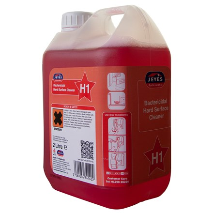 Hard Surface Cleaner, Jeyes H1 Bactericidal Conc. 2 x 2Ltr
