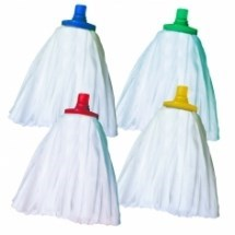 Mop Heads, Big White Dispo. Excel, T1, Red