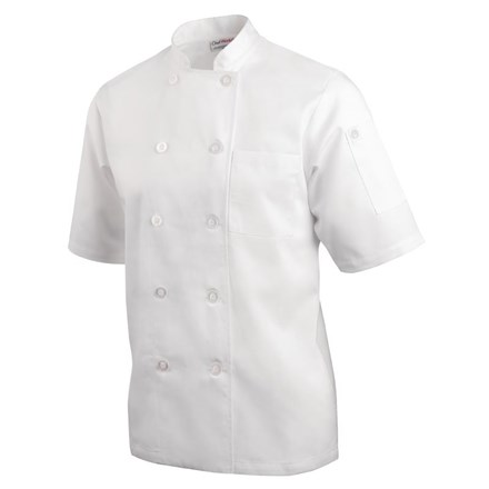 Catering, Wear, Chef Jacket, Volnay Short Sleeved, White, XL