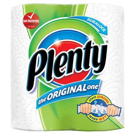 Kitchen Towel, Plenty, 2Ply White, 10 Rolls