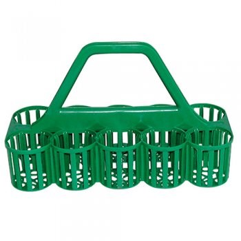 Glass Collectors Basket, Green