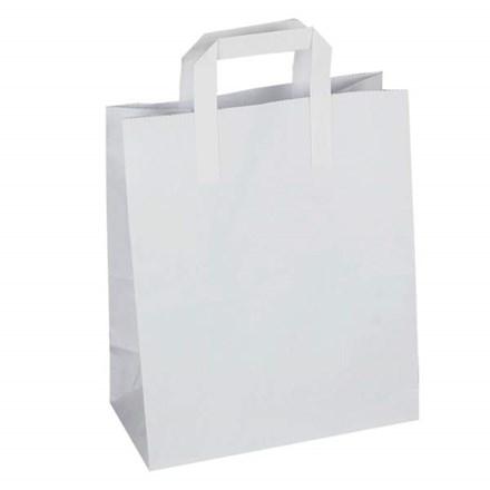 """Bags, Paper, Takaway, Sulphite, SOS, Carriers, 7"""", 250"""