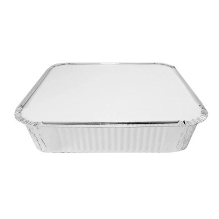 Catering, Foil Container, Square, No. 9 Lids, 200