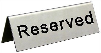 Sign, Reserved, Table, 45x120x36mm, 10