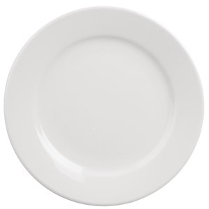 "Crockery, Athena, Plate, Wide Rim, 165mm/6.5"", 12"