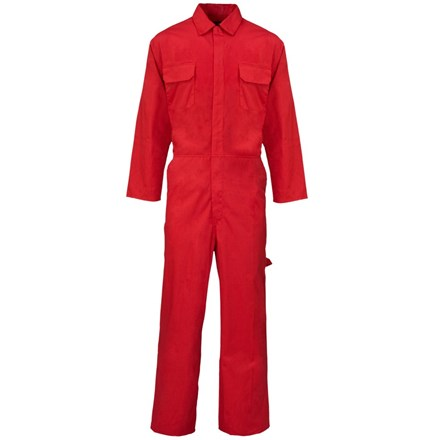 Overalls, Polycotton, Red, XXL