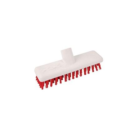 Brush, Hygiene, Deck Scrub, Abbey, Red