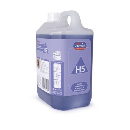 Washroom Cleaner, Jeyes, H5, Disinfectant, Conc. 2x2 Ltr