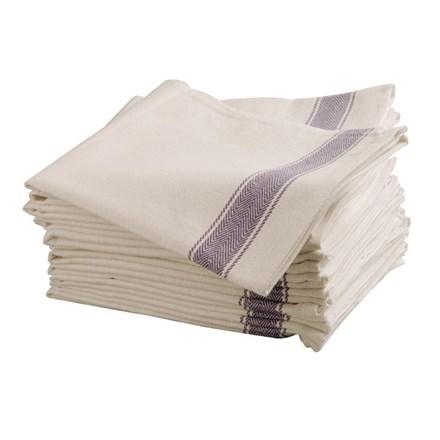 """Towel, Tea, Cotton, Heavy, Blue, 30x20"""""""