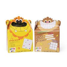 Childrens, Crafti's Kids Bizzi Boxes Assorted Zoo Lion and Monkey