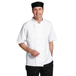 Catering Wear, Chefs Jacket, Boston, S/Sleeve, White, Large