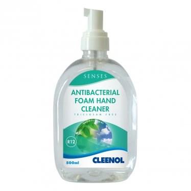 Soap, Hand, Cleenol, Senses, Antibacterial Foam, 6x500ml