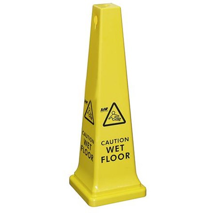 "Sign, Safety Cone, ""Caution Wet Floor"", Tall"