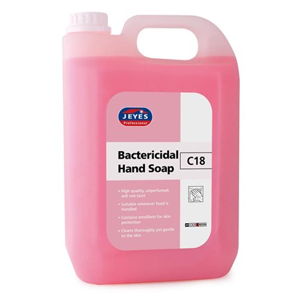 Soap, Jeyes, C18, Pink Pearlised Bactericidal, 5Ltr