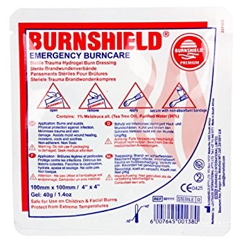 First Aid, Dressing, Burnshield, 10 x 10 cm