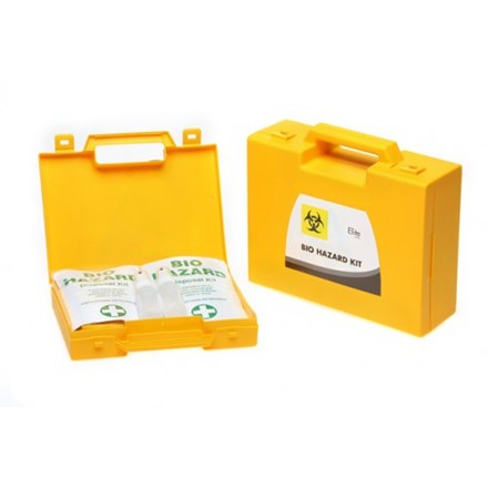 Body Fluid Spill Kit, 5 Applications, Biohazard Box