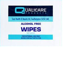 First Aid, Alcohol Free/Antiseptic Wipes Box of 100