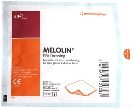 First Aid, Dressing, Melolin, Low Adherent, 5x5cm, 100