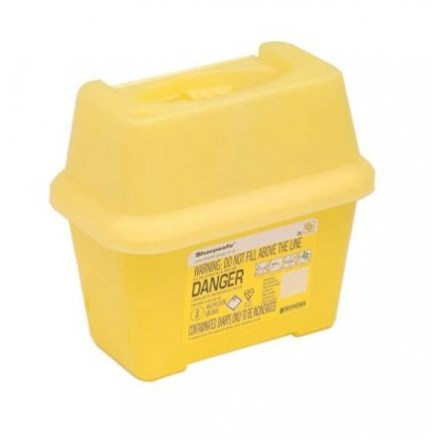 Sharps Disposal Container, 2Ltr