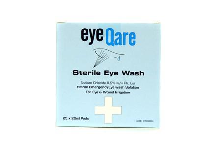 First Aid, Eye Wash Vials, 20ml., Pack 25