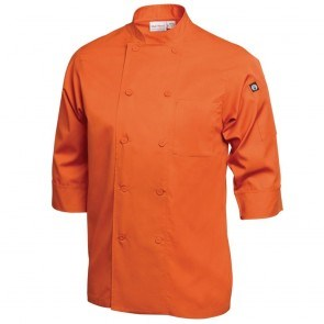 Catering, Wear, Chef Jacket, 3/4 Sleeve, Orange, Lge