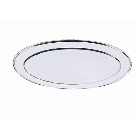 "Tray, Oval Serving Flat, Olympia, 20"", 505mm, S/S"