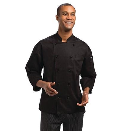 """Catering, Wear, Chef Jacket, Monaco, Black, 48"""" - XXXL"""