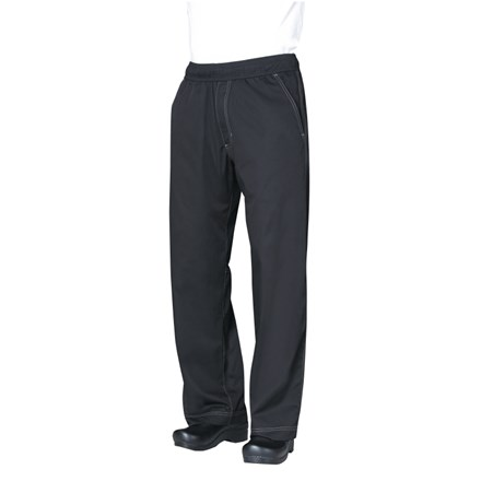 Catering Wear, Chefs Trousers, Cool Vent, Black, XL