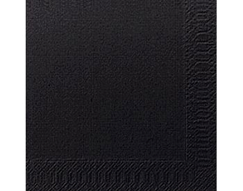 Napkins, Duni, 25cm, 2Ply, Cocktail, Black, 2400