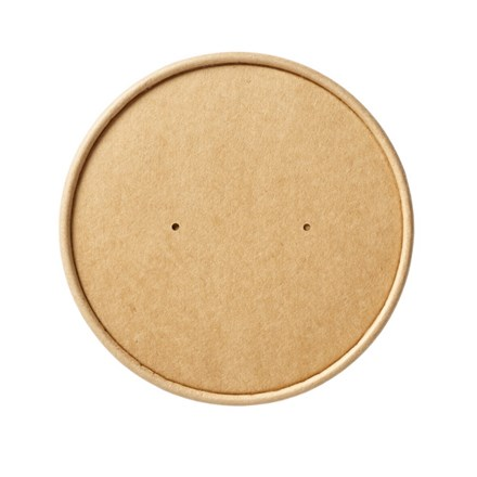 Catering, Soup Container Vented Lids, Kraft, 26-32oz, 500