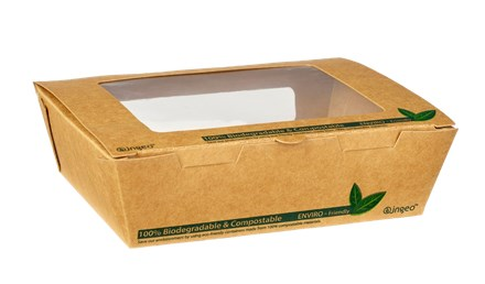 Catering, Salad Box, Tuck Top Compostable, Kraft, 900ml, 200