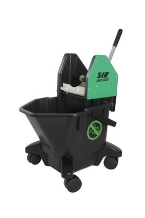 Bucket, Mop/Wringer Unit, SYR Ebony, 20 Litre, Green