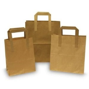 "Bags, Takeaway, Kraft, SOS, Carriers, Med., 8.5x13x10"", 250"
