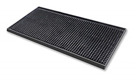 Bar Supp, Bar Mat, Rubber,  450mm x 300mm, Black