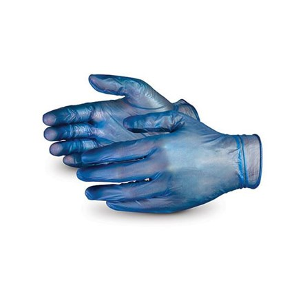 Gloves, Vinyl, Blue, P/F, 100 Gloves