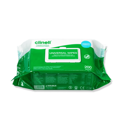 Wipes, Clinell, Bactericidal/Virucidal, 99%, 200