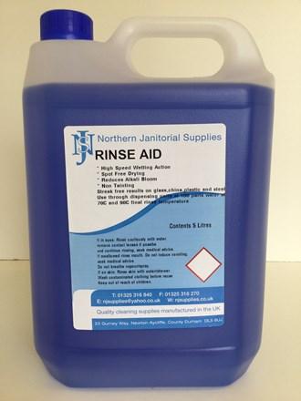 Dishwash Liquid, NJS, Rinseaid, 5Ltr