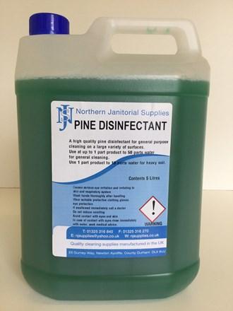 Disinfectant, NJS, Pine, 5 Ltr