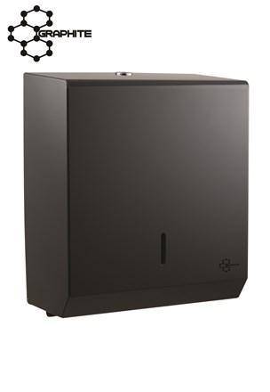 Dispenser, Hand Towel, Steel, Graphite Grey