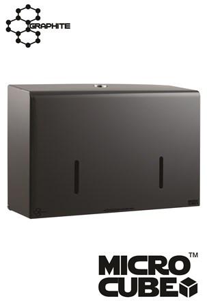 "Twin Micro Jumbo Dispenser Graphite Grey 6"""